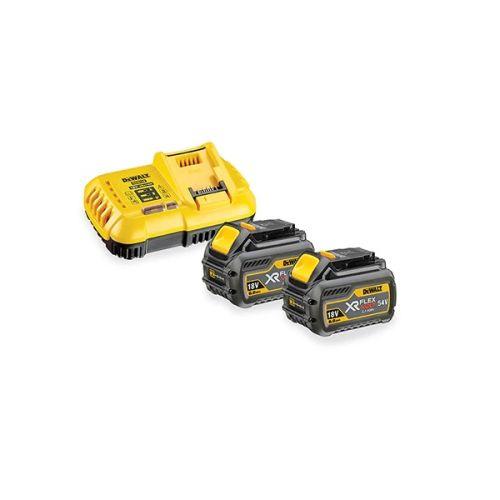 Pack 2 batteries XR Flexvolt Dewalt 18V + chargeur rapide DCB118X2 photo du produit
