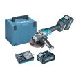 Meuleuse 40 V XGT 125 mm (machine complète) avec 2 batteries 4 Ah en coffret MAKPAC - MAKITA - GA023GM201 pas cher