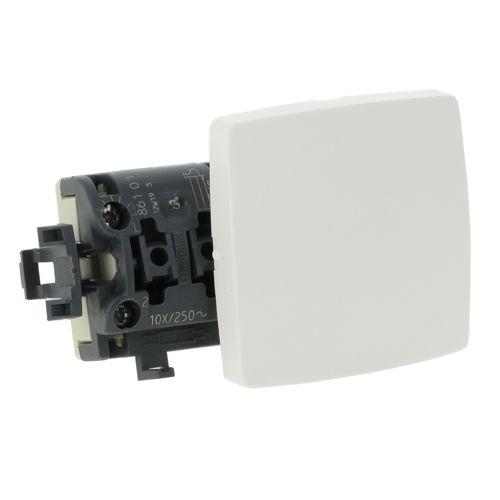 Interrupteur va-et-vient appareillage saillie composable (blanc) - LEGRAND - 086101 pas cher Principale L