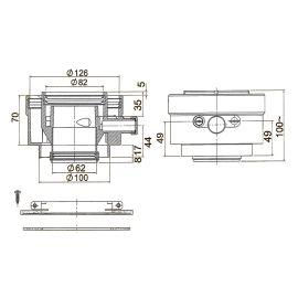 Adaptateur vertical vent 80/125 photo du produit