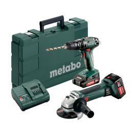 Pack 2 outils sans-fil Metabo 18 V (SB 18 + W 18 LTX 125) + 2 batteries (2Ah - 4Ah) + chargeur SC 30 pas cher