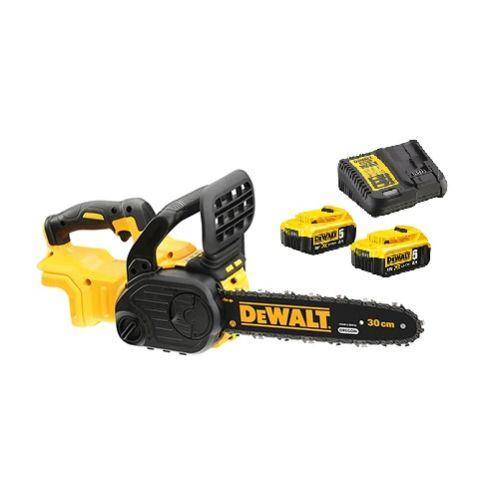 Tronçonneuse Brushless sans fil 18 V Dewalt DCM565N + 2 batteries 5 Ah + chargeur XR DCB115 photo du produit