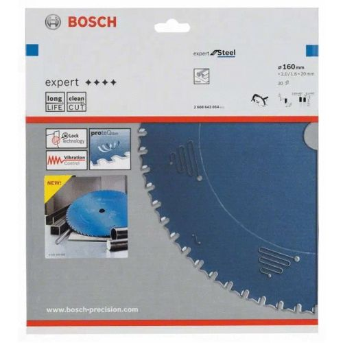 Lame de scie circulaire 160x20x1,6 mm pour le métal - 30 dents - BOSCH EXPERT - 2608643054 pas cher Secondaire 1 L