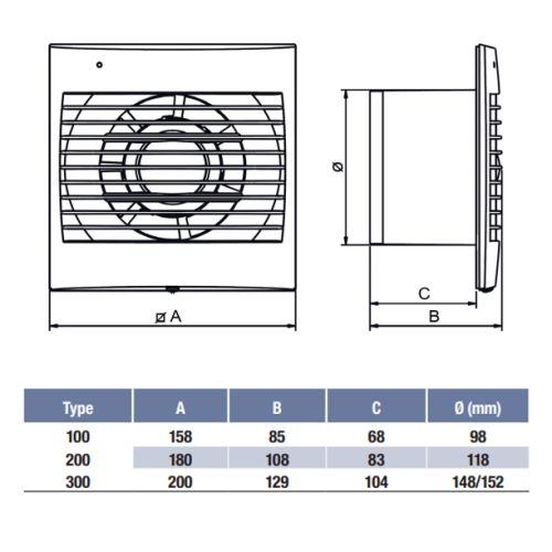 Aérateur plat Unelvent Decor 100 photo du produit Secondaire 1 L