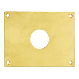 Plaque laiton poli trou rond photo du produit