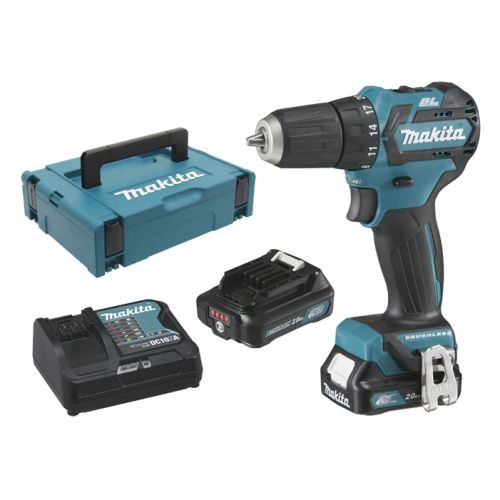 Perceuse-visseuse sans-fil Makita DF332DSAJ 12 V + 2 batteries CXT Li-Ion 2 Ah + chargeur + Makpac photo du produit
