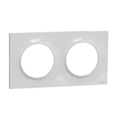 Plaque STYL grise ODACE 2 postes horizontal/vertical entraxe 71mm - SCHNEIDER ELECTRIC - S520704A1 pas cher Principale L