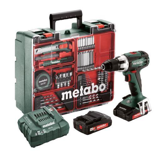 Perceuse-visseuse sans fil Metabo BS 18 LT Set 18 V + 2 batteries 2 Ah + chargeur ASC 55 + accessoires photo du produit