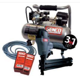 Pack agrafeuse cloueuse 3 en 1 Senco HNS5015P + compresseur + tuyau pas cher