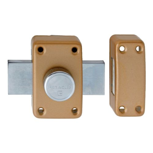 Verrou à bouton cylindre de 35 mm - HERACLES - 10020351HE pas cher Secondaire 1 L