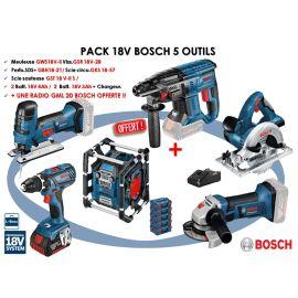 PACK 18V 5 OUTILS (GSR28/GST18/GBH21/GKS57/GWS18) 2X4/2X3Ah photo du produit