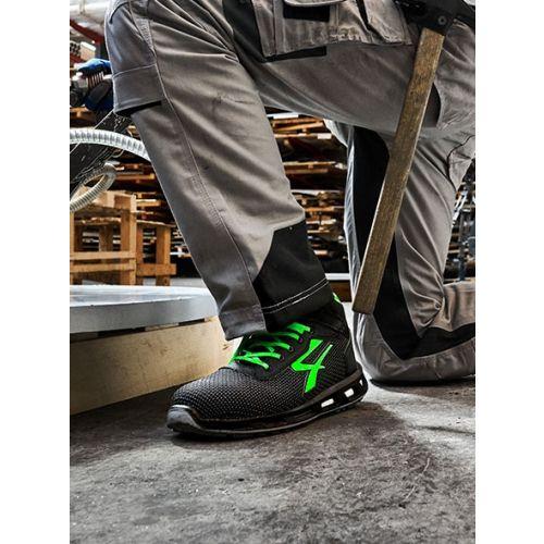 Chaussures de sécurité basses Strong S3 SRC CI noir / vert taille 41 - U-POWER - RL2035641 pas cher Secondaire 3 L