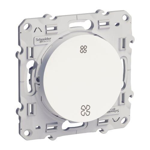 Interrupteur ODACE blanc VMC sans position arrêt - SCHNEIDER ELECTRIC - S526233 pas cher Principale L