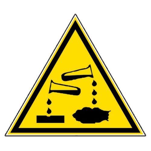 Panneau triangulaire 100 mm 'Danger matières corrosives' - NOVAP - 4180052 pas cher Principale L