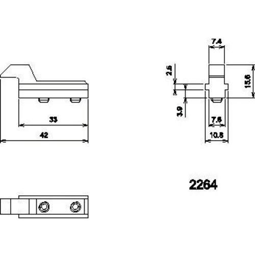 Gâche pour coulissant aluminium photo du produit Secondaire 10 L
