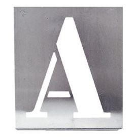Alphabet à pocher métallique Wilmart écriture capitale photo du produit