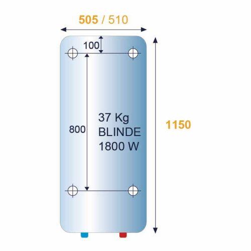 Chauffe-eau 150L vertical mural blindé monophasé - CHAFFOTEAUX - 3000576 pas cher Secondaire 4 L