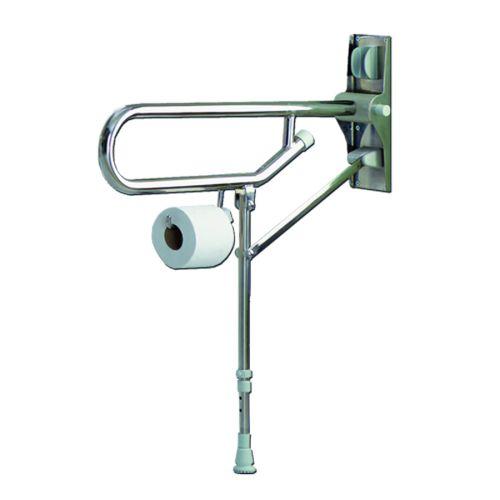 Barre d'appui rabattable inox pied réglable - AKW - 01830SS pas cher