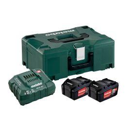 Set de base 2 batteries Metabo Li-Power 4 Ah / 18 V + chargeur ASC 55 + coffret METABOX 145 photo du produit