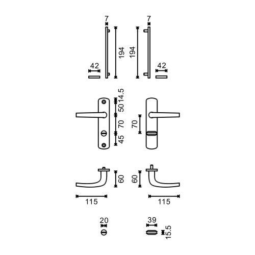 Ensemble sur plaques Salomé Home petites plaques - EA70 photo du produit Secondaire 2 L