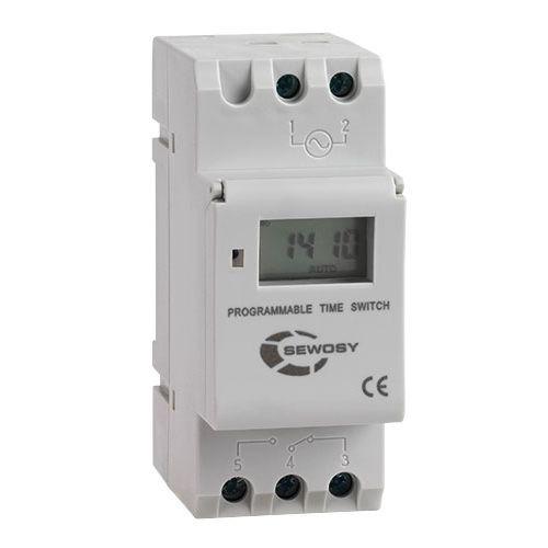 Horloge digitale hebdomadaire 230VAC 1 contact - SEWOSY - PTS71C pas cher Principale L