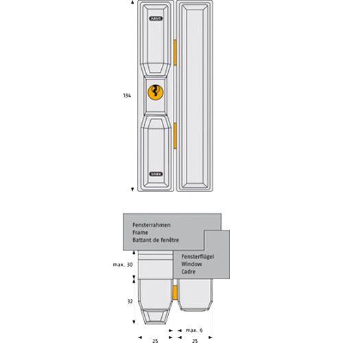 Verrouillage à cylindre pour baie coulissante FTS 88 blanc - ABUS - FTS88 W KD EK pas cher Secondaire 2 L