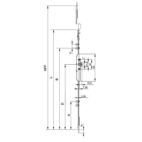 Crémone GU axe à 7,5 mm - FERCO - G-20461-08-0-1 pas cher Secondaire 1 L