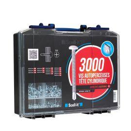 Coffret 3000 vis autoperceuses Scell-it à tête cylindrique pas cher