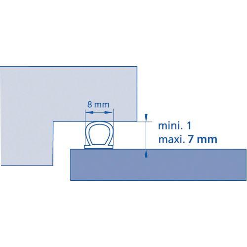 Joint de calfeutrage adhésif noir 7.5m - ELLEN - 1000027 pas cher Secondaire 2 L