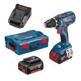 Perceuse-visseuse sans-fil Bosch GSR 18V-28 18 V+ 2 batteries 4 Ah + chargeur + L-Boxx pas cher
