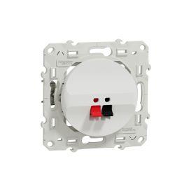 Odace - prise haut-parleur 1 sortie - blanc - fixation par vis - bornes pression pas cher