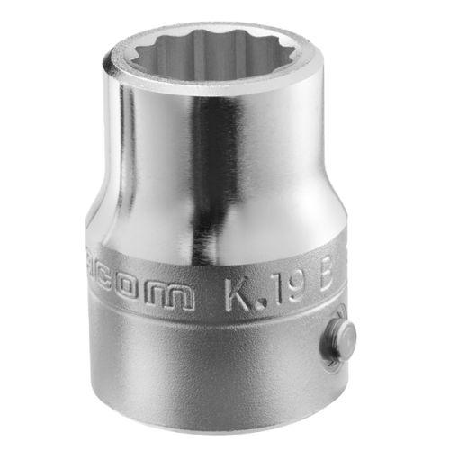 Douille 3/4'' 12 pans métriques diamètre 32,0 mm longueur 59 mm - FACOM - K.32B pas cher