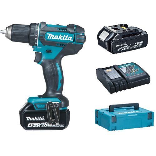 Perceuse visseuse 18 V Makita DDF482RMJ + 2 batteries 4 Ah BL1840 + chargeur DC18RC photo du produit