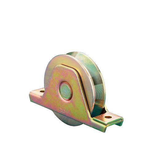 Roue 1 roulement à platine interne gorge 100 ronde charge de 200kg - COMUNELLO - 337-100S pas cher Secondaire 2 L