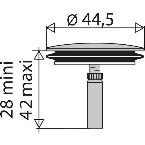 Clapet de vidage Ø45 vidage automatique plastique - VALENTIN - 4220000000 pas cher