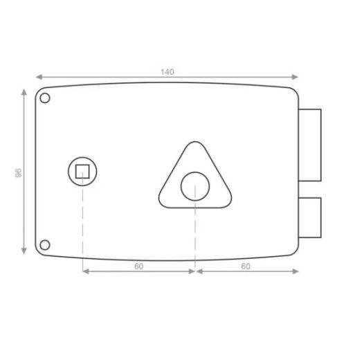 Serrure monopoint en applique horizontale Héraclès ERCY 5G photo du produit Secondaire 9 L