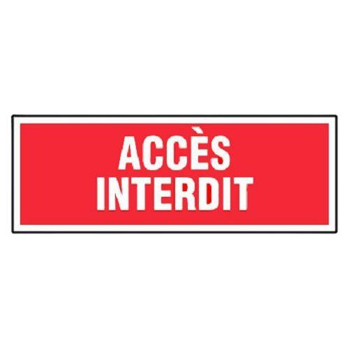 Panneaux d'interdictions rectangulaires photo du produit Secondaire 3 L