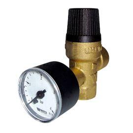 Soupape chauffage Watts avec manomètre 3 bar photo du produit Principale M