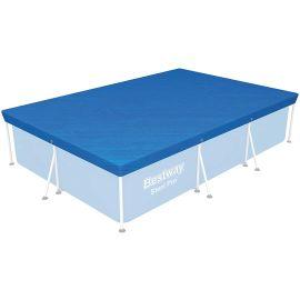 Bâche 4 saisons rectangulaire bleue pour piscines hors sol 300 x 201 cm - BESTWAY - 58106 pas cher