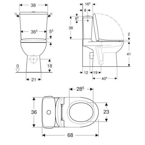 Pack WC complet Allia Prima 6 GEBERIT photo du produit Secondaire 2 L