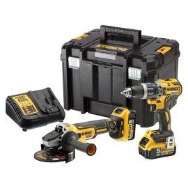 Pack de 2 outils Dewalt DCK2080P2T (DCD796 - DCG405) 18 V + 2 batteries 5 Ah + chargeur + Tstak pas cher Principale M