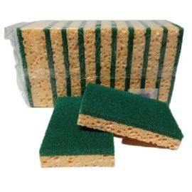 Tampon vert sur éponge photo du produit