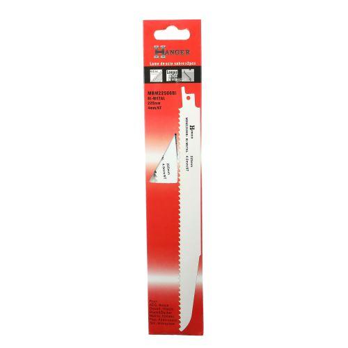 2 lames pour scie sabre (MBM22506BI) - HANGER - 150311 pas cher Secondaire 5 L