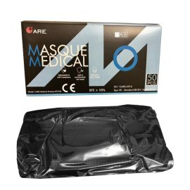 Masque respiratoire jetable 4 plis Type II R CE EN 14683 BFE ≥ 98% photo du produit