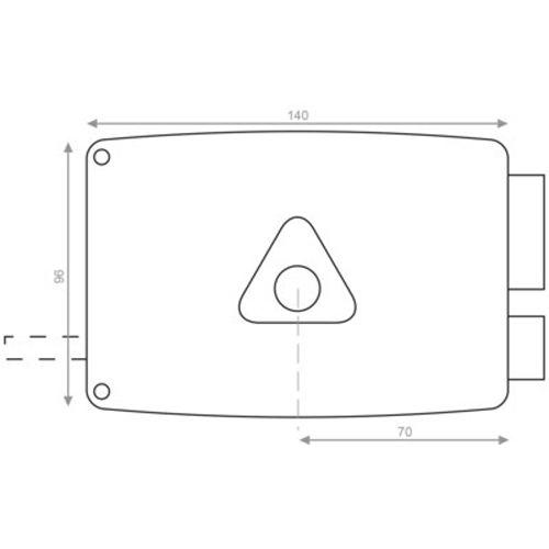 Serrure monopoint en applique horizontale Héraclès ERCY 5G photo du produit Secondaire 10 L