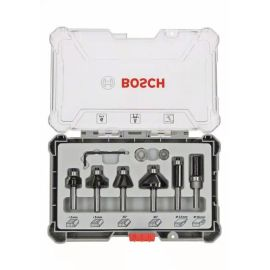 Kit de 6 fraises Bosch à araser et de bordage - 6 pièces pas cher