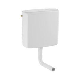 Réservoir apparent AP140 de WC semi-bas simple touche blanc - GEBERIT - 140.017.11.1 pas cher