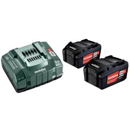 Set de base 2 batteries Metabo Li-Power 18 V - 5,2 Ah + chargeur ASC 145 pas cher Principale M