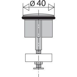 Clapet à ailettes pour bonde automatique lavabo VALENTIN photo du produit