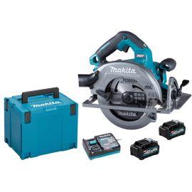 Scie circulaire sans-fil Makita HS004GM202 40 V + 2 batteries 4 Ah + chargeur + coffret MAKPAC pas cher Principale M